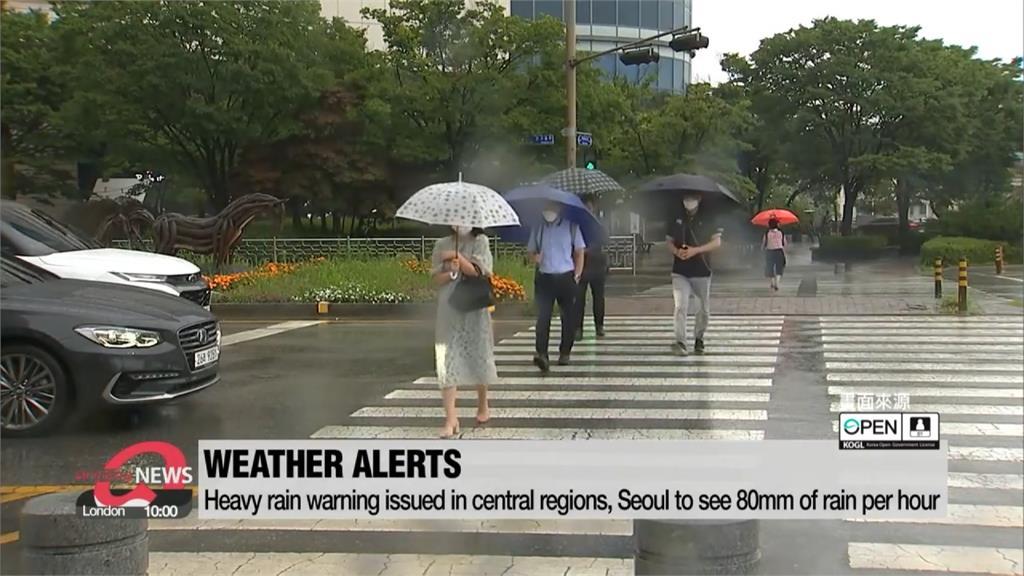 南韓中部地區暴雨襲擊 房屋淹水、土石流釀5死5失蹤