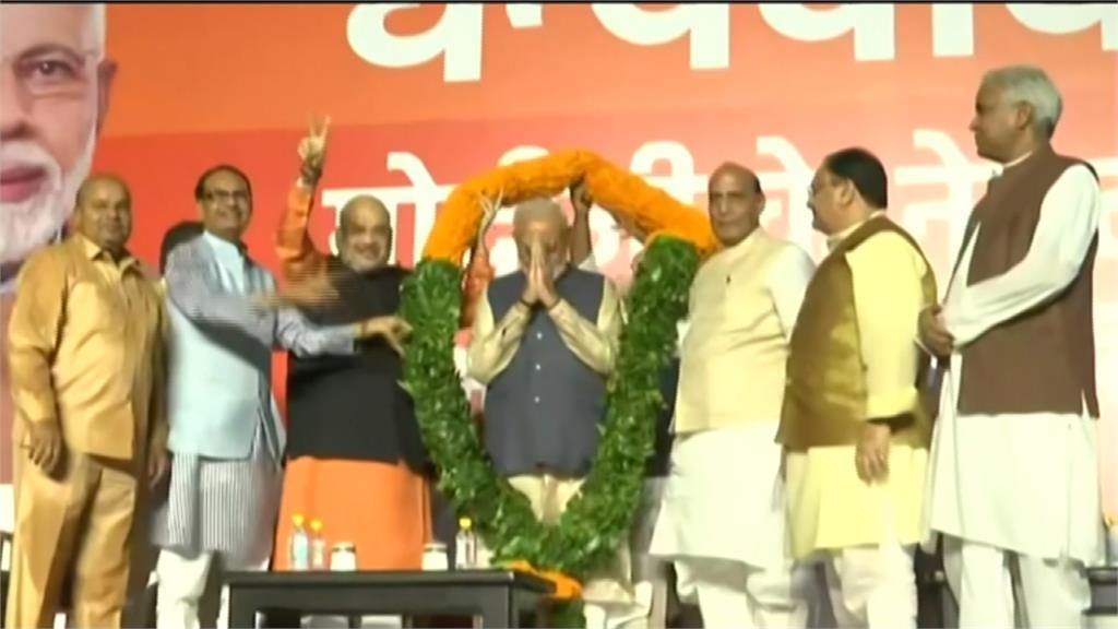 拿逾300席壓倒性勝!印度總理莫迪連任成功