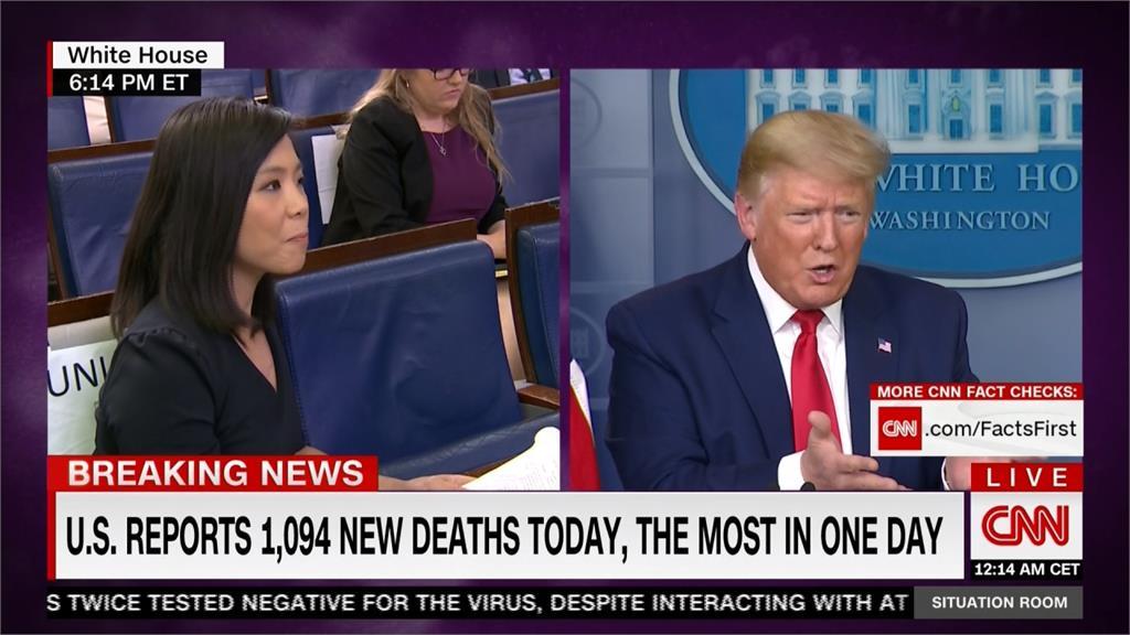 川普強調絕不戴口罩 記者會大動肝火