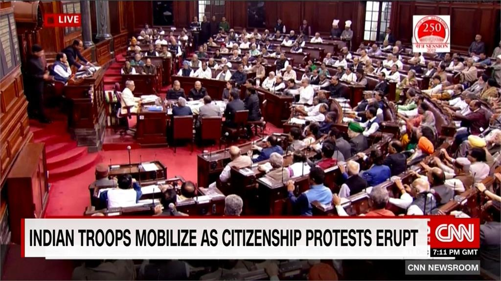 印度國會通過排穆斯林法案 多省民眾示威抗議