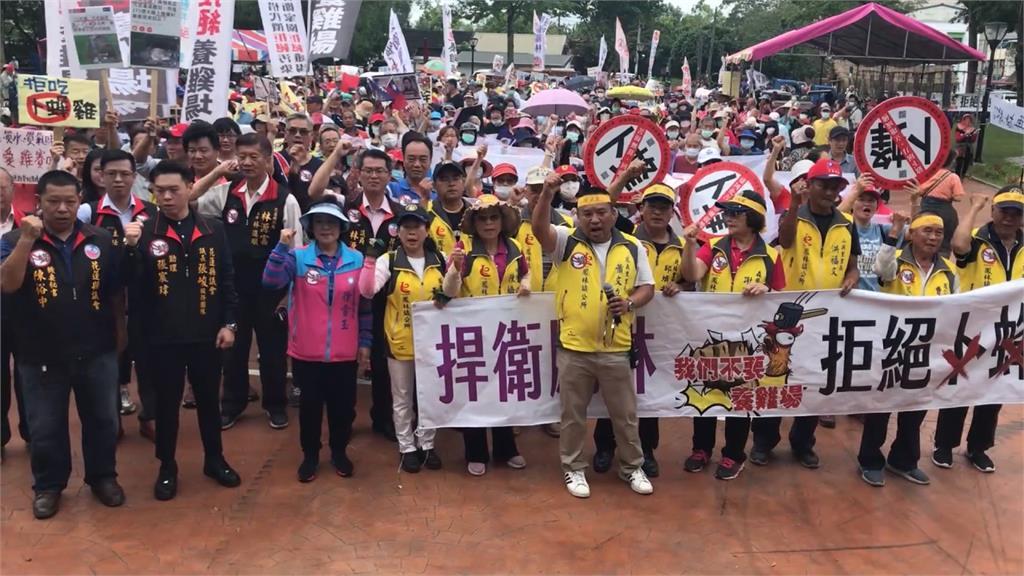 花蓮卜蜂雞場開發案未完 居民發動遊行抗議