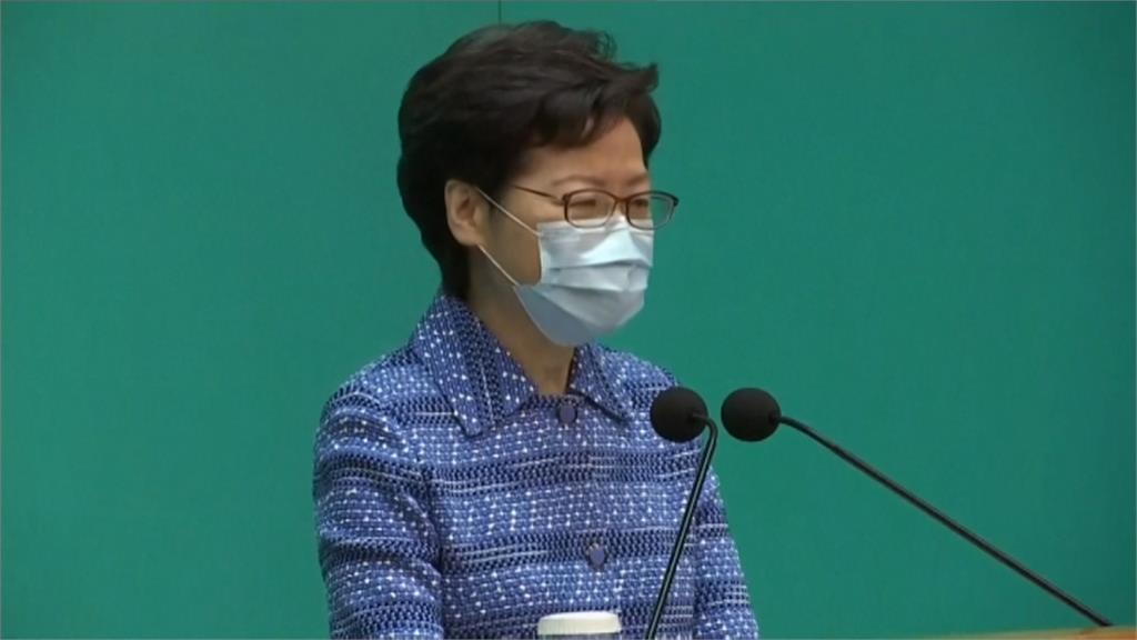 中強推港版國安法 林鄭重申全力支持