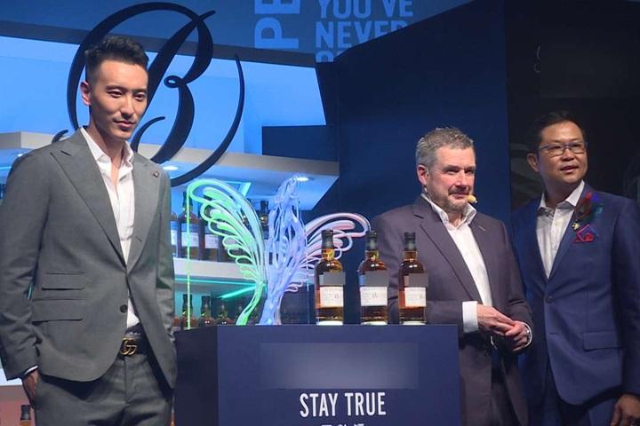 威士忌品牌上市 王陽明任首位台灣代言人
