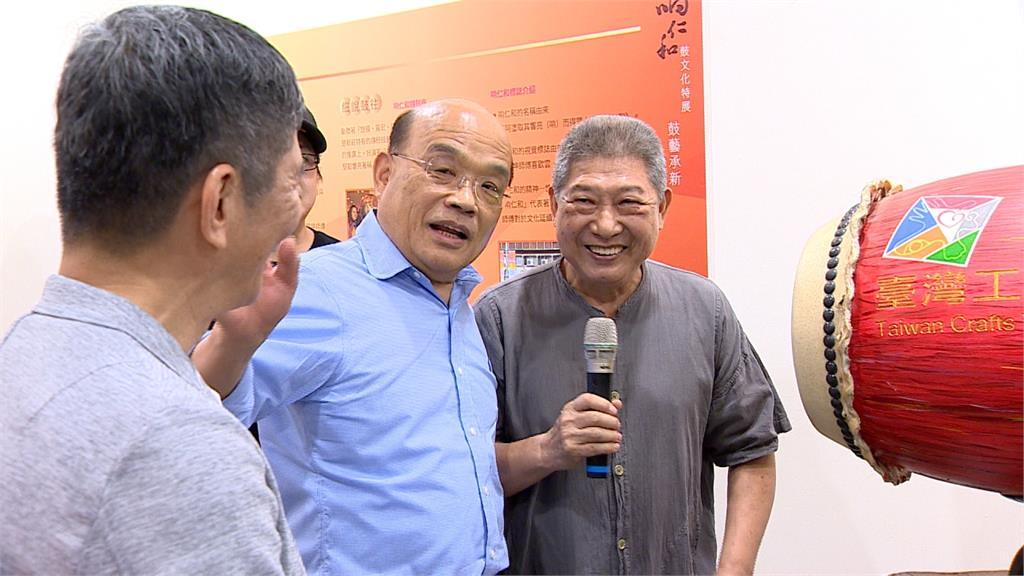 蘇貞昌帶頭振興國內藝文 參觀鼓藝節「露一手」