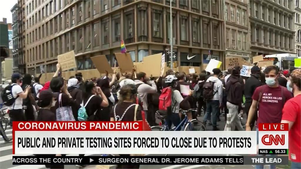 非裔之死示威潮恐引爆疫情?白宮:提升篩檢能量