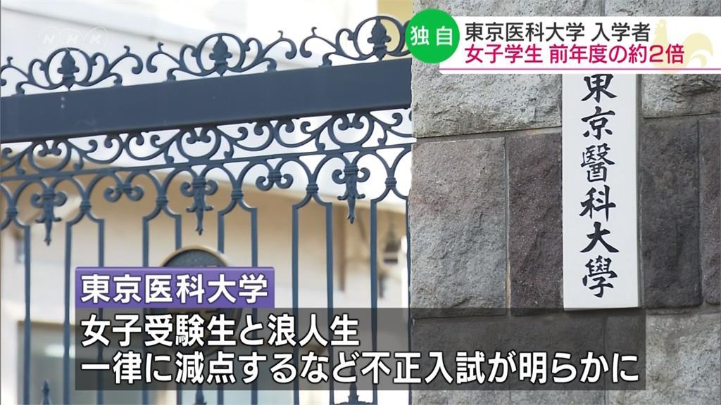 去年挨轟性別歧視 東京醫大女性新生增至45人