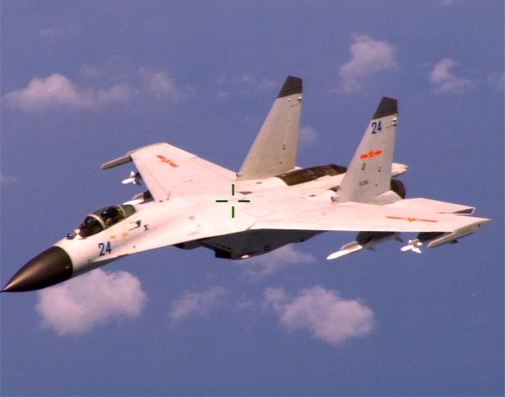 國防部證實!中國軍機飛行台灣西南海域上空
