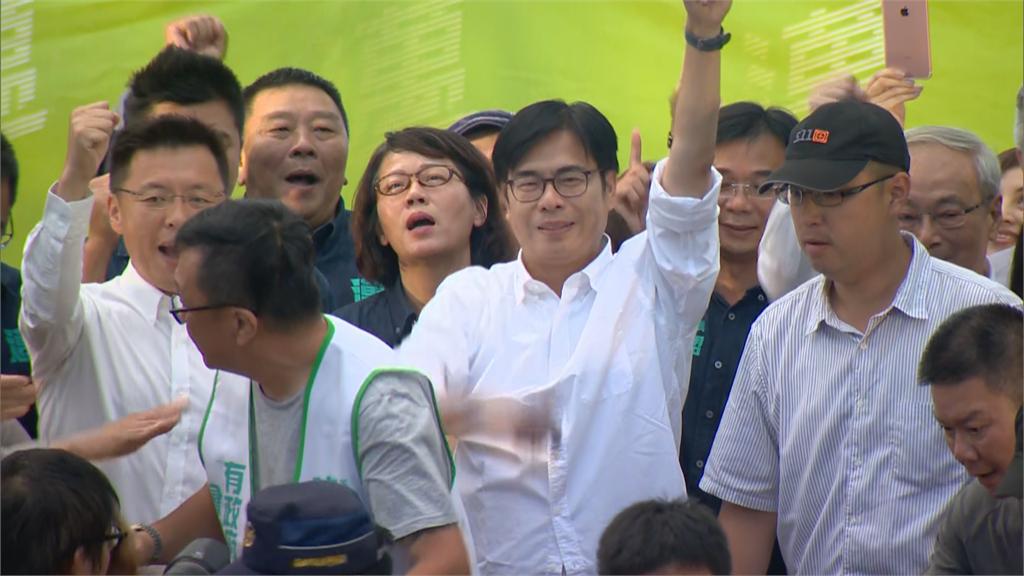 快新聞/陳其邁67萬1804票當選高雄市長 發表感言謝高雄市民