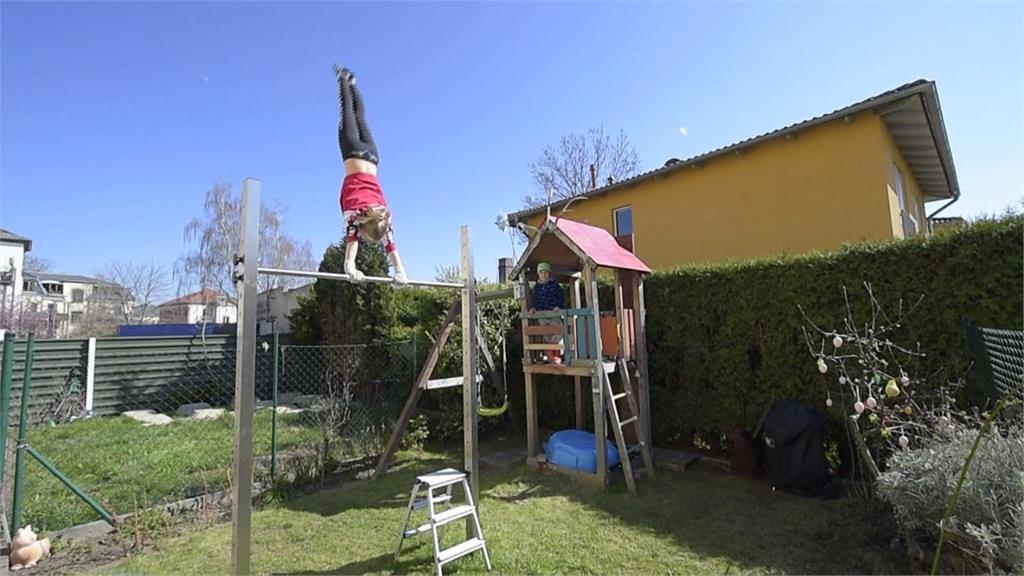防堵疫情!歐美運動員宅在家 後院成變身運動場