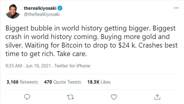 全球將面臨史上最大崩盤?《富爸爸,窮爸爸》作者警告:快買黃金