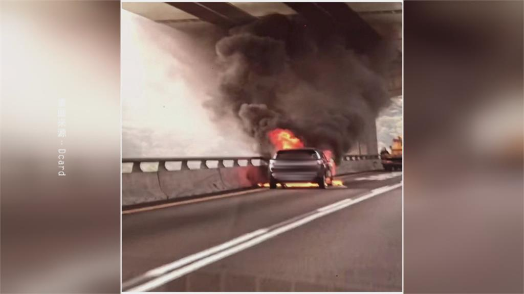 歷劫歸來!五楊「火燒車」門竟被鎖死 苦主:差點被燒死 租車公司5千元想和解?