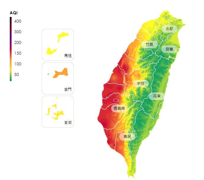 快新聞/嘉義市一片白茫茫能見度極差 中南部空氣品質「紅色警示」