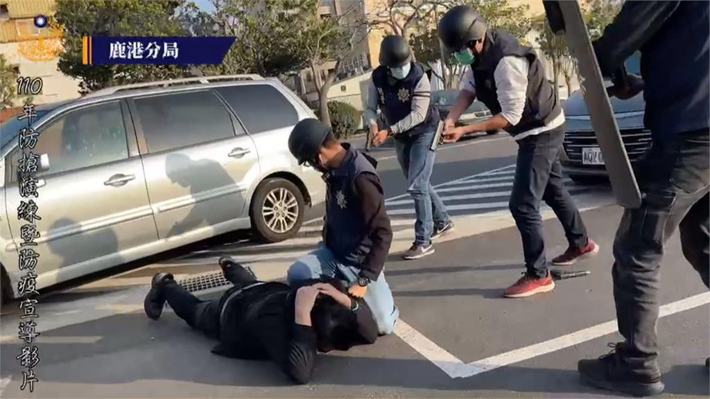彰警拍「防搶演練」如警匪大片網友盛讚:被警察耽誤的導演