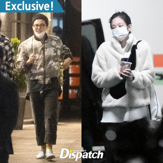 GD與Jennie互竄家門約會 韓媒爆兩人秘戀一年