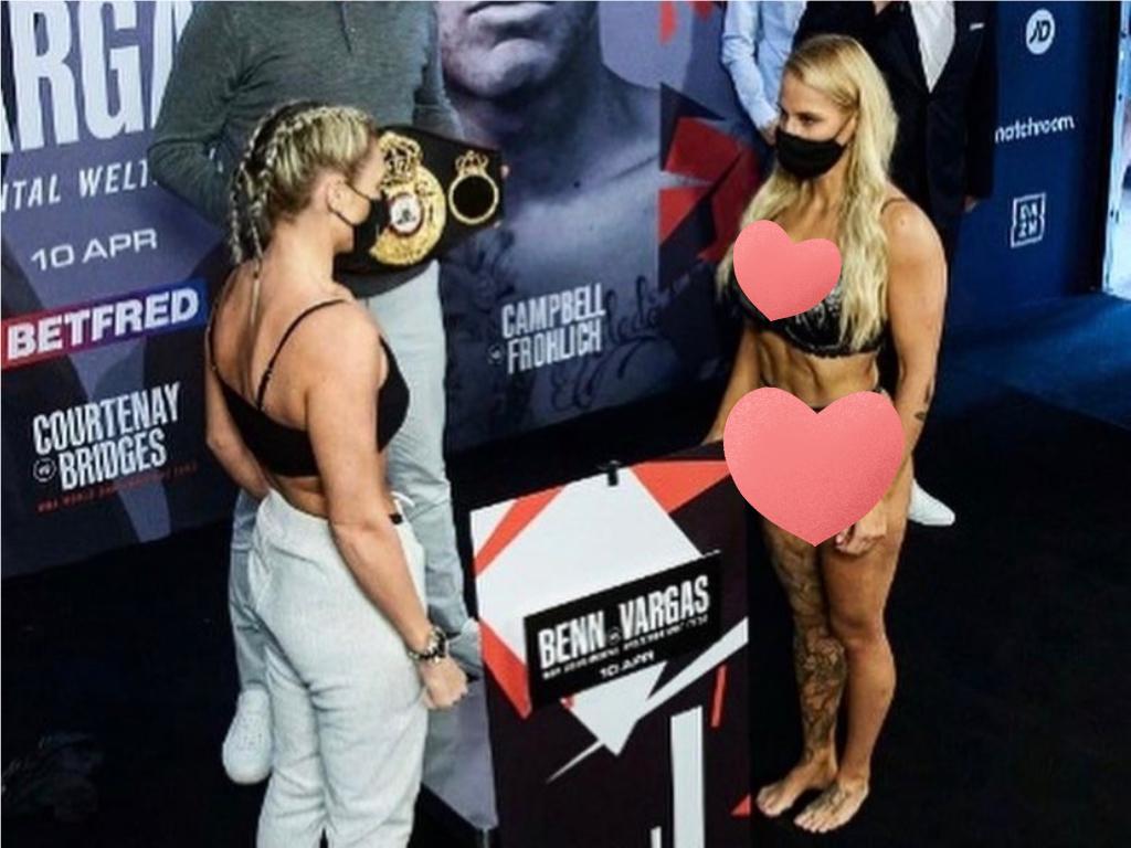 美女拳手「蕾絲裝」過磅真相曝光! 遭打成豬頭仍「笑著合照」