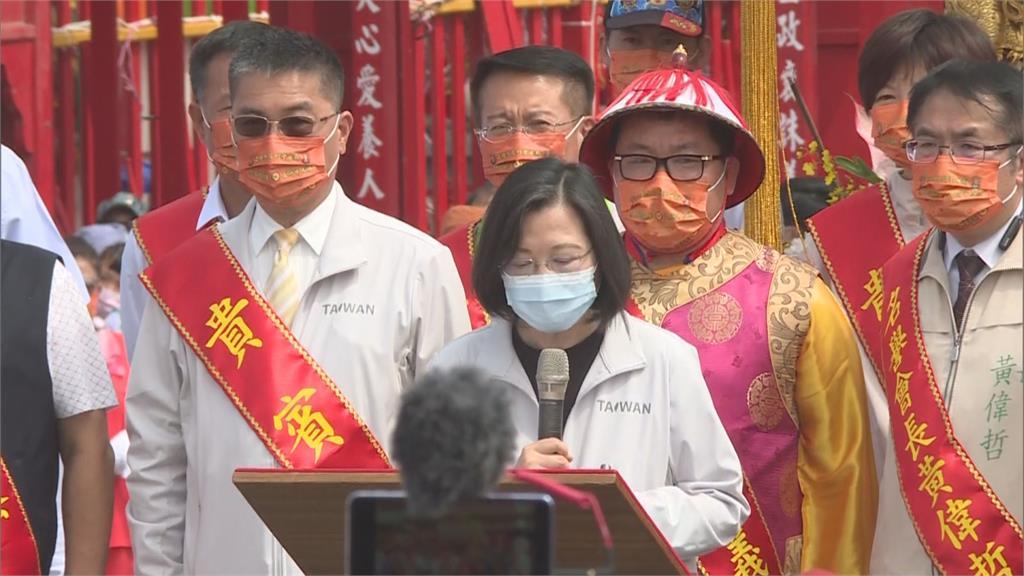 蔡總統祈求媽祖保佑度過疫情 呼籲民眾打疫苗