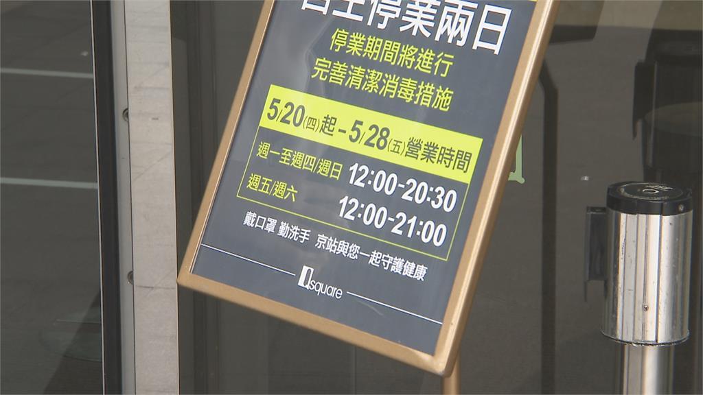 雙北三級警戒 京站、禮客outlet停業 百貨公司改12點營業至晚上8點