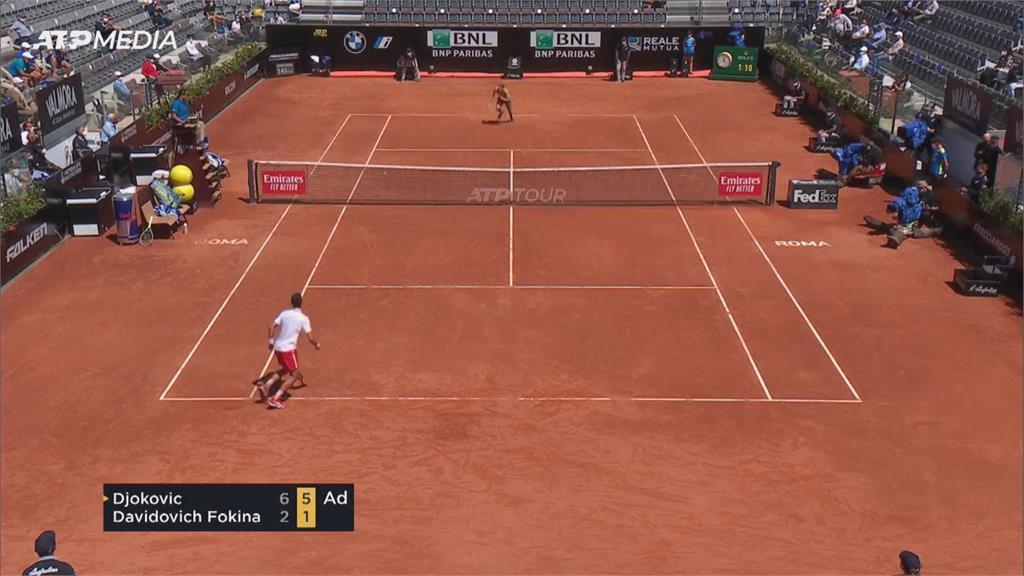 羅馬大師賽納達爾驚險獲勝! 挺進男單八強