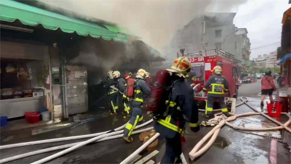 新北市場店面火警 14人預防性送醫