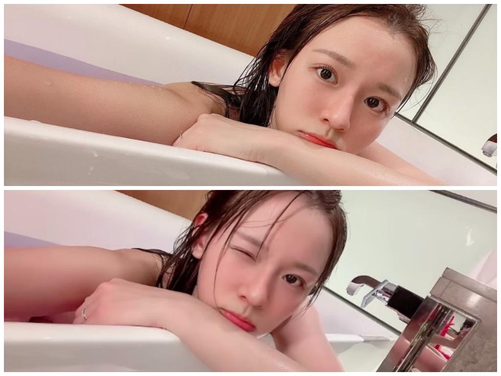 「台版三上悠亞」林莎6秒泡澡影片 網鬧:跟小鍾哥一起泡?