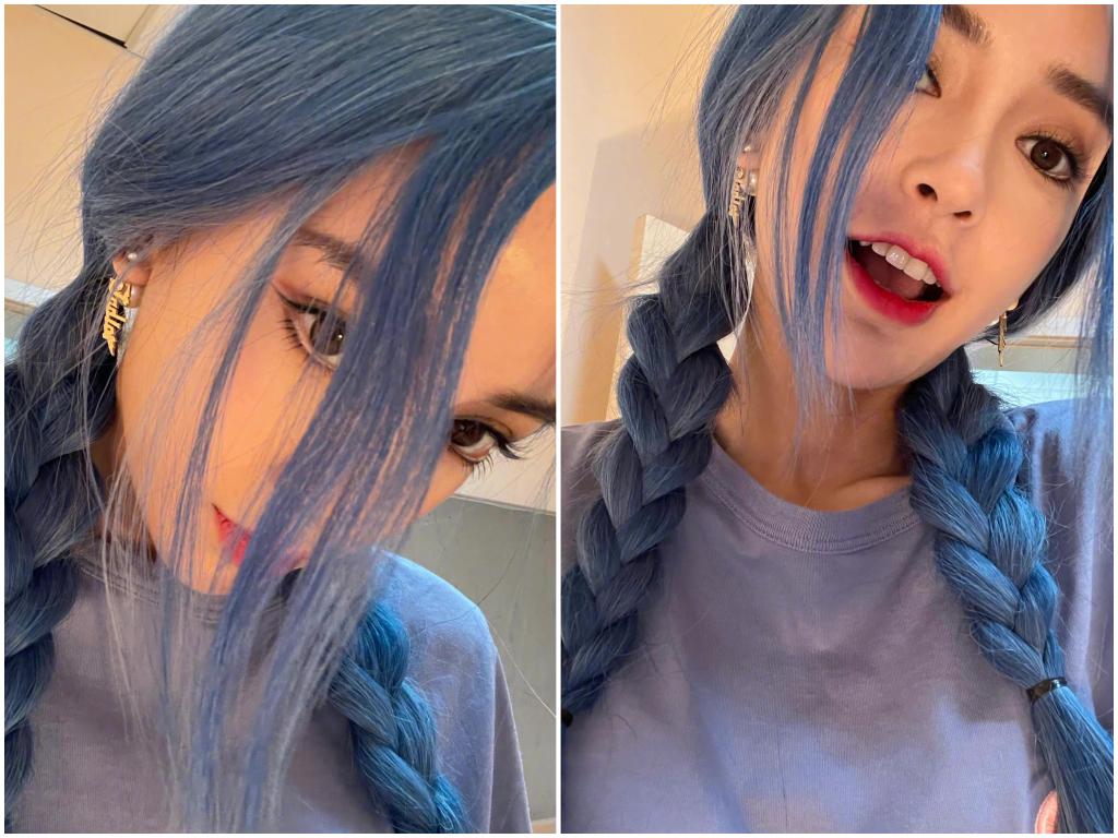 不甩離婚謠言!Angelababy藍髮人魚造型曝 超有料曲線塞滿黑色洋裝