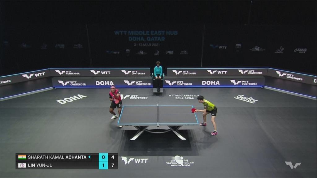 卡達世界桌球大聯盟 林昀儒男單混雙同日晉八強