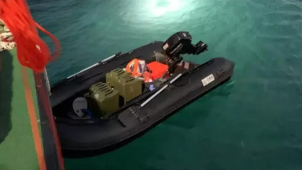 中國偷渡客划橡皮艇到金門 海外漂流被海巡盯上
