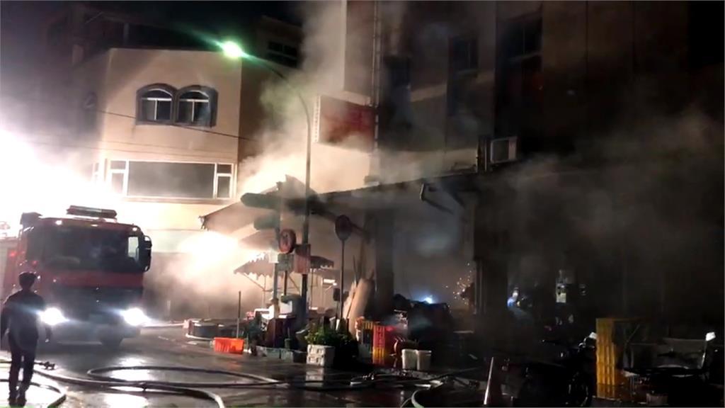 宜蘭南館市場暗夜惡火 濃煙直竄天際超駭人!