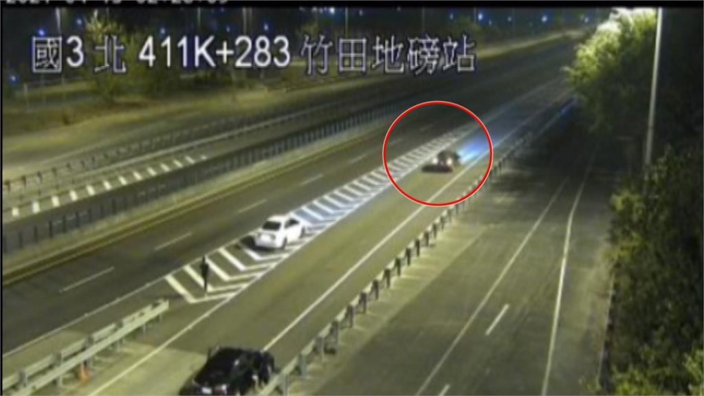 國3飛車追逐逾10公里!黑車遭攔慘遭棍襲