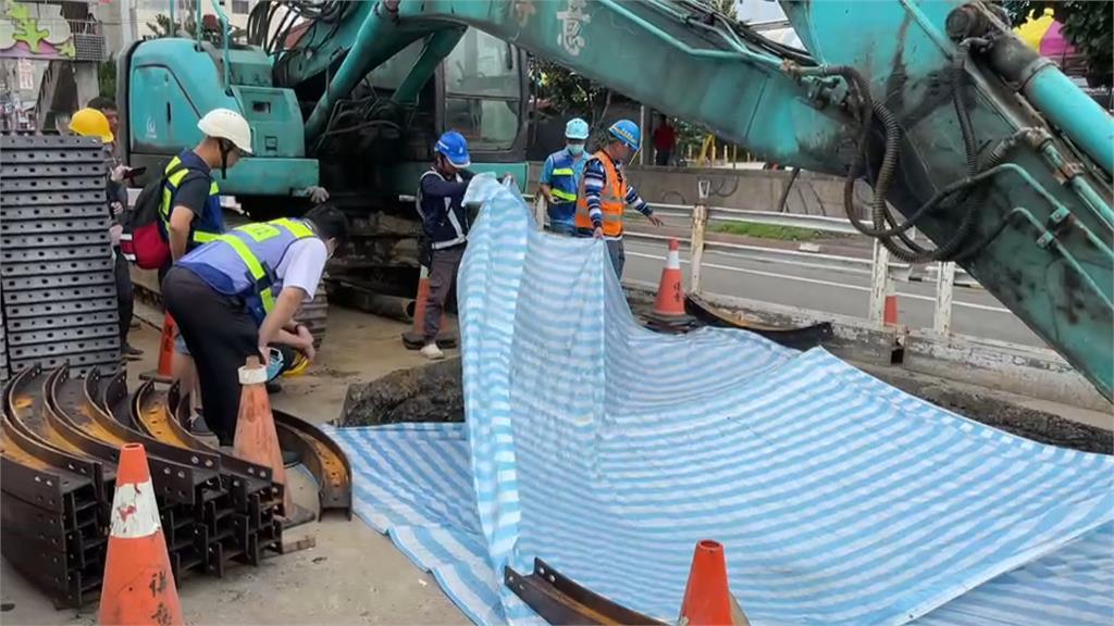 廢棄油管藏殘存油料 怪手開挖工地瞬間成火海