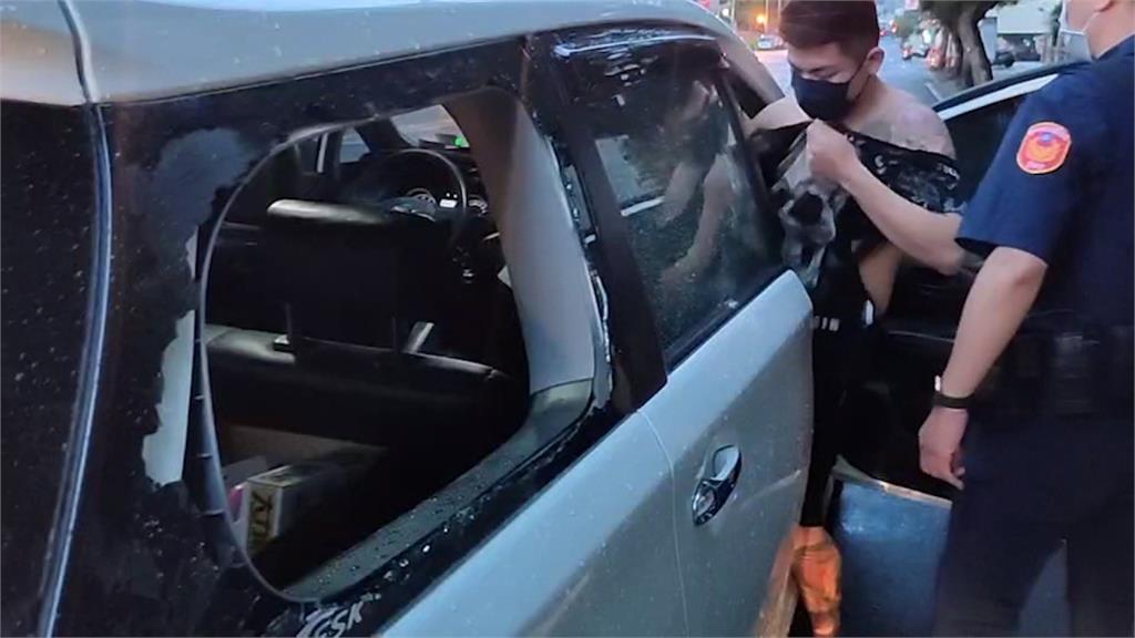 台中清晨擦撞事故 竟演變成砸車打人