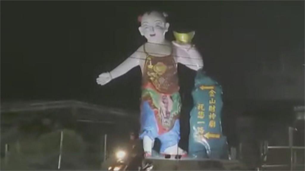 半夜驚魂! 神像路標「太像鬼」 駕駛經過怕怕的