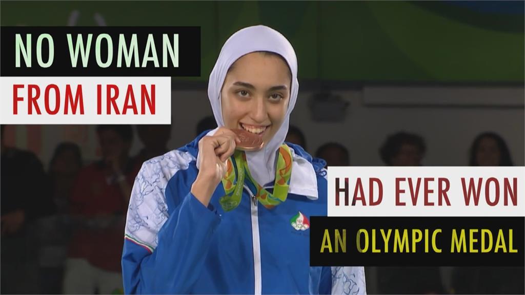 伊朗首位跆拳道女將 棄國籍加入奧運難民隊
