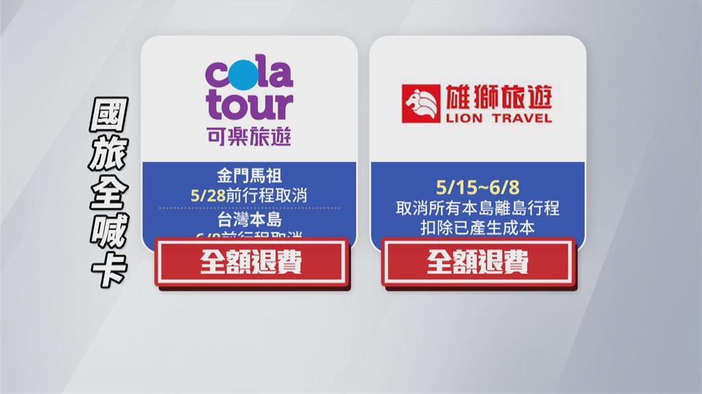 疫情升溫!雄獅.可樂旅遊.燦星 6/8前行程取消 可退費或延期
