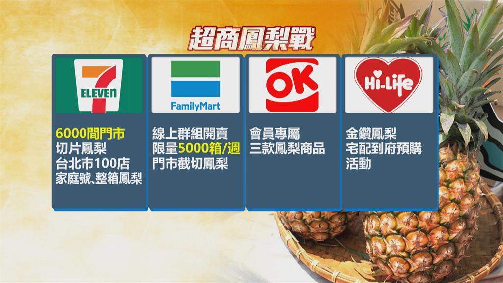 你已經吃幾顆鳳梨了?四大超商鳳梨大戰 整箱宅配、幫你切片