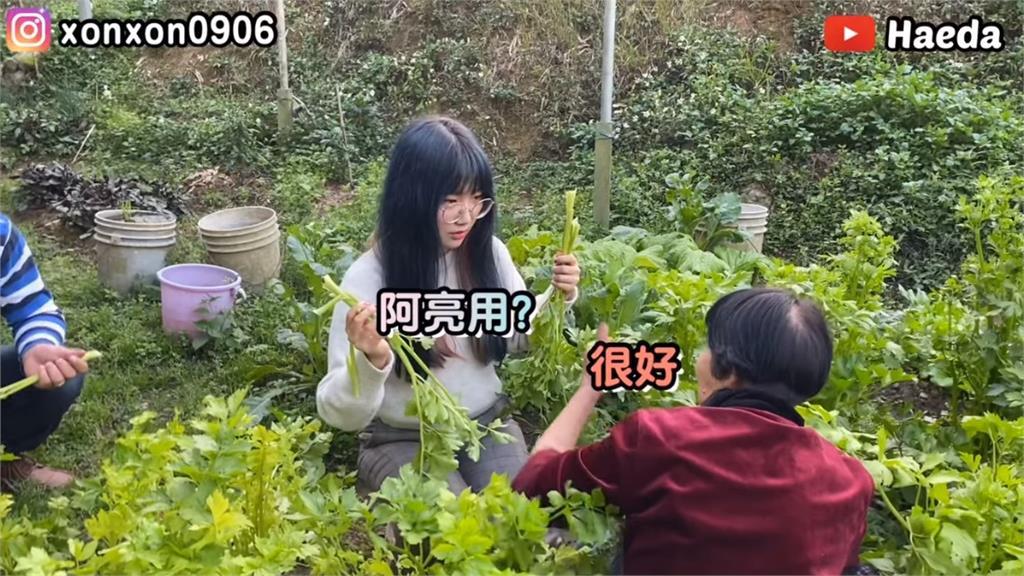 韓國正妹學客語 蹲菜園樂學「阿亮用」結局令她崩潰