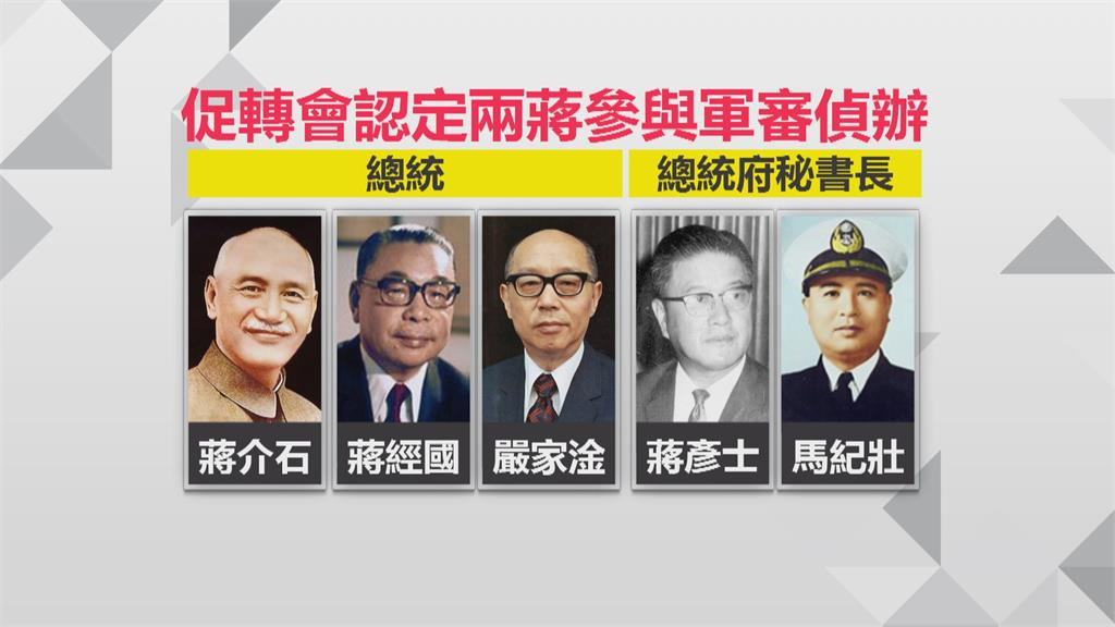 公布兩蔣都曾主導軍事審判  促轉會:只是開始