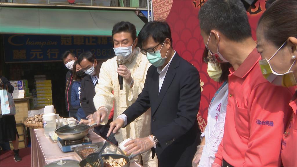 高雄過好年開跑 三鳳中街禁試吃試用 陳其邁:品質有保證