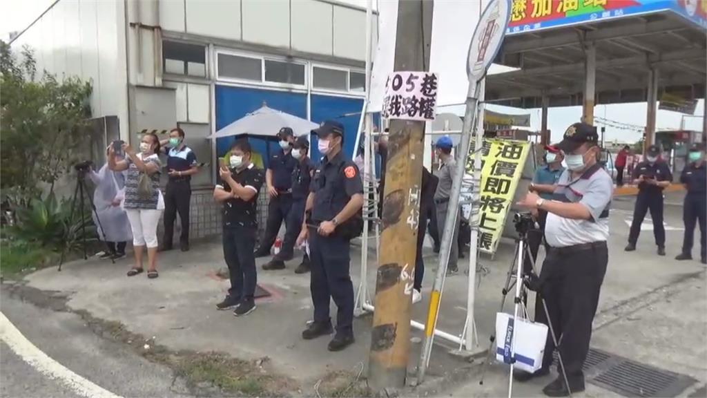 蔣月惠抗議不違群聚 蒐證警比抗議民眾還多