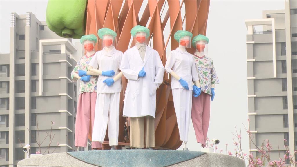 員林防疫花燈 鳳梨、醫護花燈放一起...鳳梨象徵旺旺來 醫院:網友別想太多
