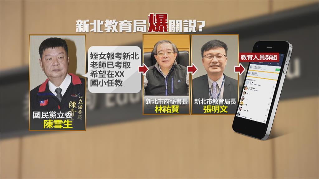 陳雪生遭檢舉替姪女關說教徵!還傳到教育群組 議員帶頭監察院檢舉