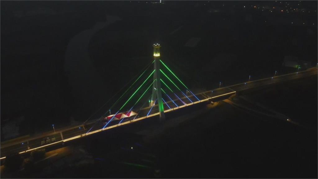 嘉義縣首座斜張橋落成 主要交通橋樑兼觀光