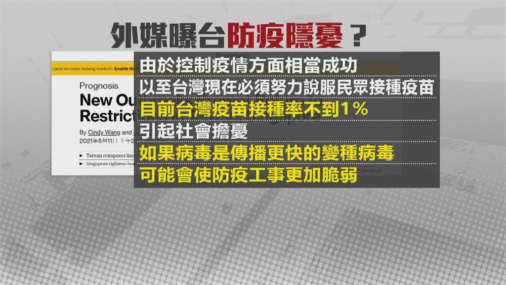 台灣初期控制疫情! 彭博:排除病毒在外8個多月