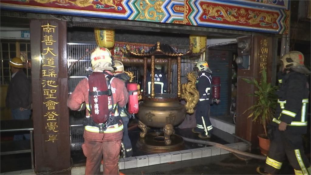 蘆洲蔘藥行大火延燒至宮廟 傳爭吵聲憂遭縱火
