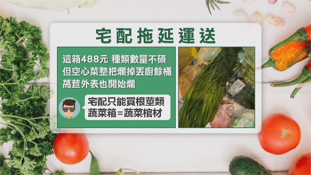 民眾網購蔬菜箱 一打開發現菜全「變黃發臭」