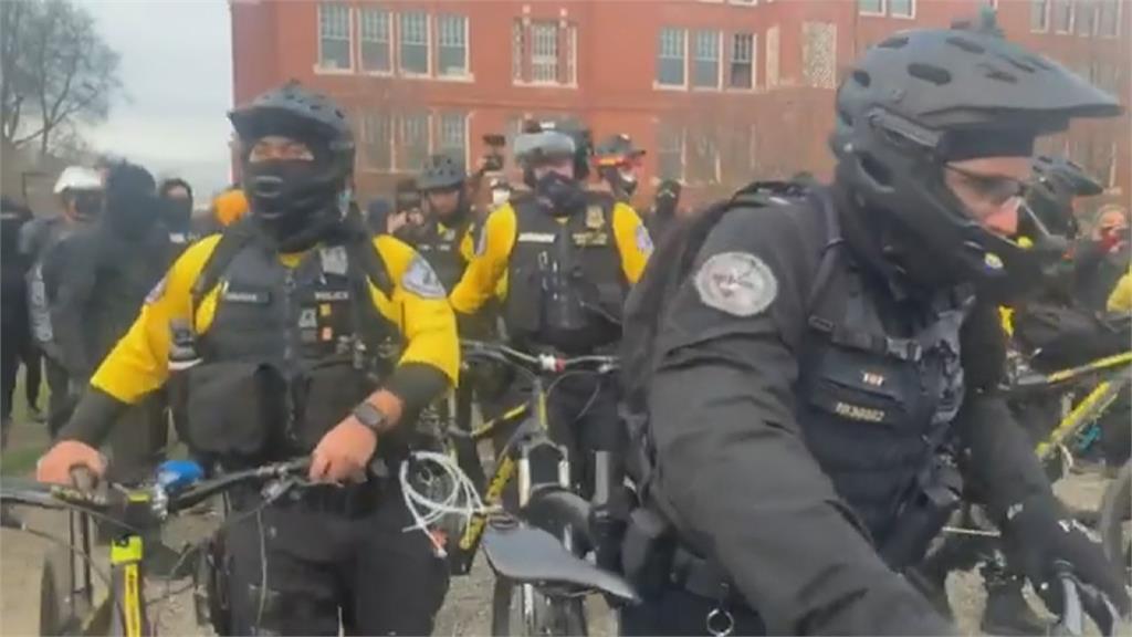 不滿拜登就職 川粉暴亂與警爆激烈衝突 波特蘭民主黨總部遭搗毀 至少8人被補