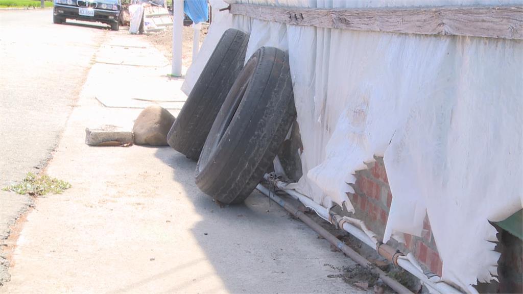 一家四口住簡陋鐵皮屋 豬舍改建木棍支撐防塌