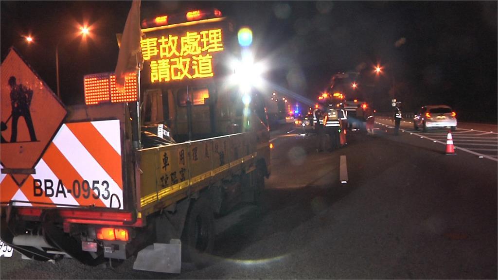 疑未保持安全距離釀追撞 國道深夜事故幸無人傷亡