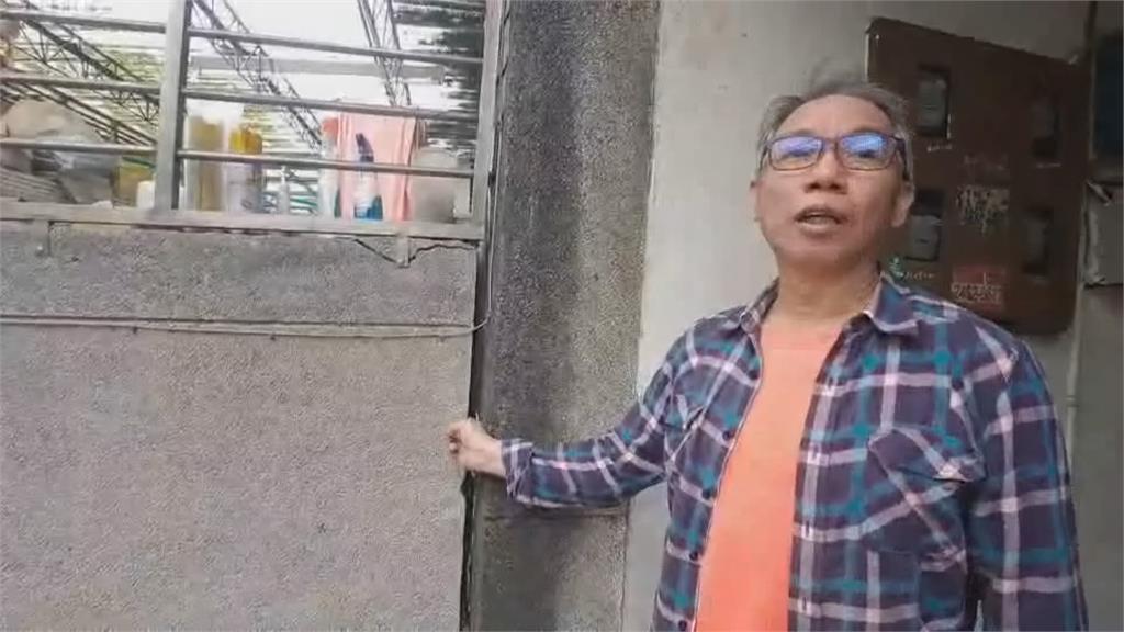 基隆市府進行集水井工程釀禍民宅牆壁龜裂、大門變形 住戶心驚驚!