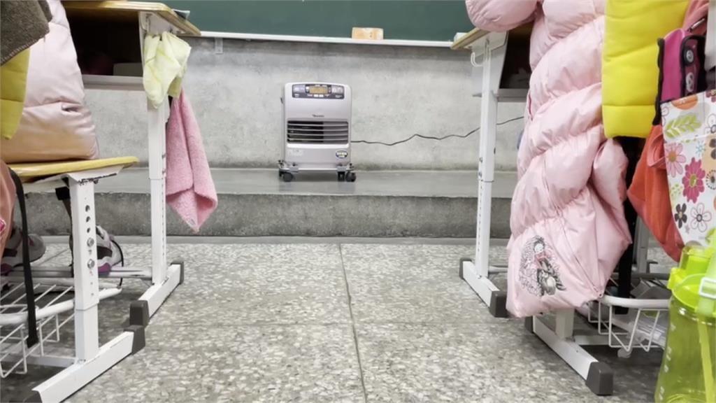 溫度2度照常上課 「最高學府」南山國小開暖爐上課